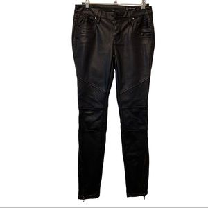 BLANK NYC 25 Faux Leather Moto Pants Ankle Zipper